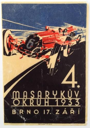 """""""4. Masaryk?v okruh Brno on 17. zá?í 1933"""" (4th Masaryk Circuity Brno 17 September 1933)"""