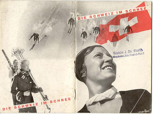 Die Schweiz im Schnee by Herbert Matter, 1936, Cover