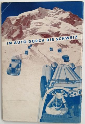 Im Auto Durch Die Schweiz, circa 1936, designed by Herbert Matter, Front Cover