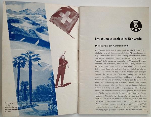 Im Auto Durch Die Schweiz, circa 1936, designed by Herbert Matter, Inside View One