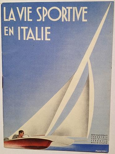 La Vie Sportive en Italie, circa 1930, by Corrado Manciolo, published by ENIT