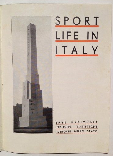 Sport Life in Italy, circa 1930, by Corrado Manciolo, published by ENIT, Inside View One