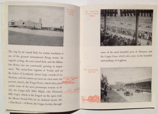 Sport Life in Italy, circa 1930, by Corrado Manciolo, published by ENIT, Inside View Two