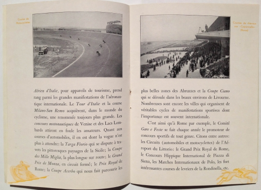 Sport Life in Italy, circa 1930, by Corrado Manciolo, published by ENIT, Inside View Three