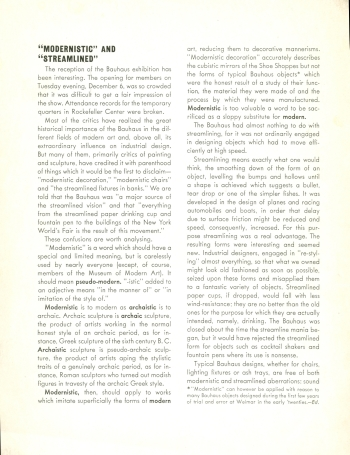 MoMA Bauhaus Exhibition Bulletin by Herbert Bayer, 1938 View One (Click for a larger image on Flickr)