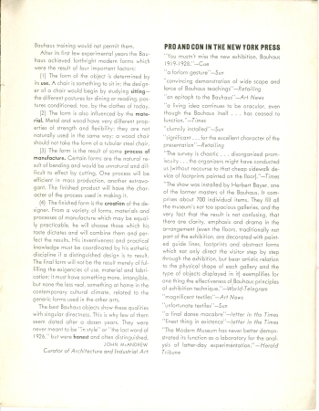 MoMA Bauhaus Exhibition Bulletin by Herbert Bayer, 1938 View Two (Click for a larger image on Flickr)