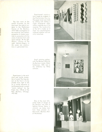 MoMA Bauhaus Exhibition Bulletin by Herbert Bayer, 1938 View Four (Click for a larger image on Flickr)