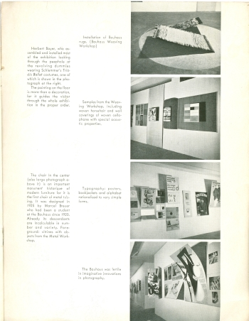 MoMA Bauhaus Exhibition Bulletin by Herbert Bayer, 1938 View Six (Click for a larger image on Flickr)