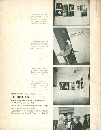 MoMA Bauhaus Exhibition Bulletin by Herbert Bayer, 1938 View Seven (Click for a larger image on Flickr)