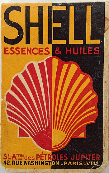 Shell Essences et Huiles circa 1932. Back Cover