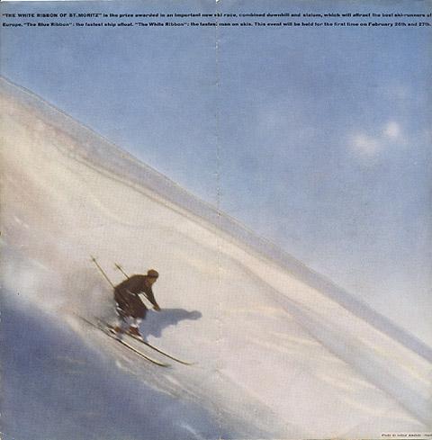 "Travel brochure for ""St. Moritz,"" 1935, Inside View One by Walter Herdeg and Walter Amstutz"