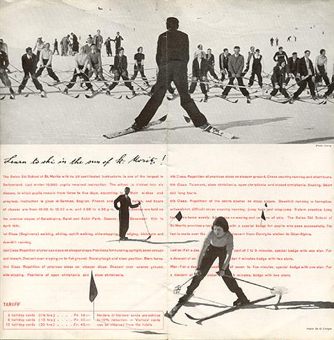 "Travel brochure for ""St. Moritz,"" 1935, Inside View Three by Walter Herdeg and Walter Amstutz"
