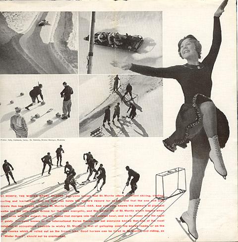"Travel brochure for ""St. Moritz,"" 1935, Inside View Five by Walter Herdeg and Walter Amstutz"