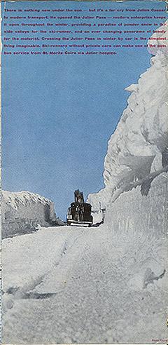 "Travel brochure for ""St. Moritz,"" 1935, Inside View Six by Walter Herdeg and Walter Amstutz"