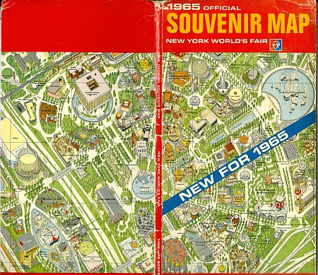 Hermann Bollmann's Isometric New York World's Fair 1964 - 1965 Map, Front and Back Cover together