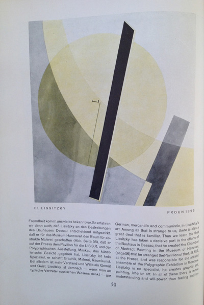 El Lissitzky article from the December 1928 issue of Gebrauchsgraphik, View Two