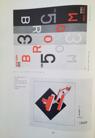 El Lissitzky article from the December 1928 issue of Gebrauchsgraphik, View Six
