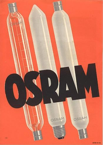 Osram Advertisement by Walter Nehmer, 1930s
