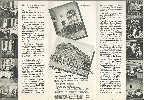 Hotel Esplanade Hamburg, 1930s Inside View