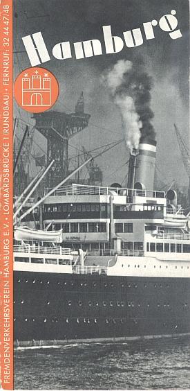 Travel brochure for Hamburg, 1930s