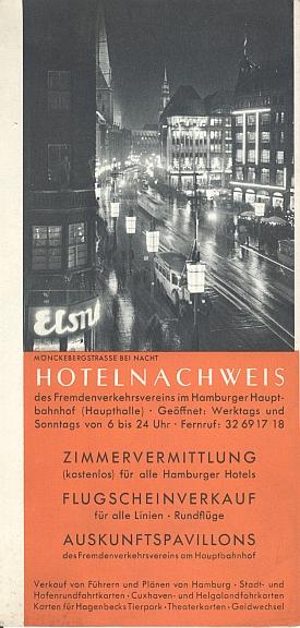 Travel brochure for Hamburg, 1930s Back Cover