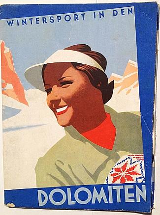 Wintersport in Den Dolmiten, 1937, design by Mario Puppo, Cover