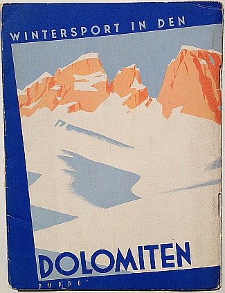 Wintersport in Den Dolmiten, 1937, design by Mario Puppo, Back Cover