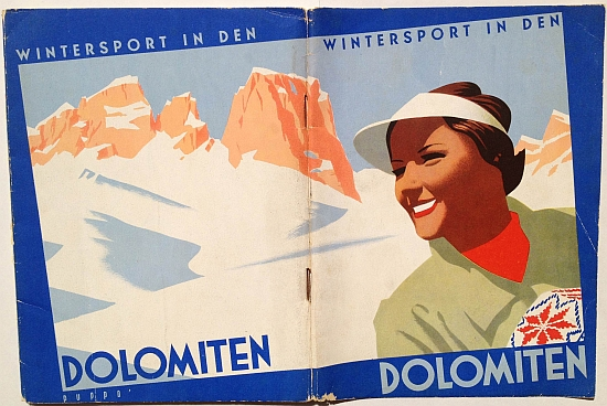 Wintersport in Den Dolmiten, 1937, design by Mario Puppo, Full Front / Back View
