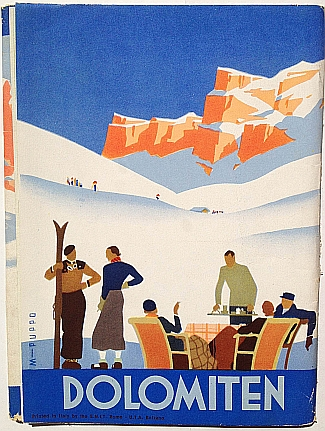 Wintersport in Den Dolmiten, 1937, design by Mario Puppo, Inside Fold Out