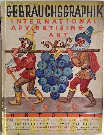 Gebrauchsgraphik Cover, October 1929