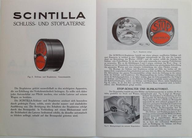 Scintilla Schluss- und Stoplanterne, 1930, Inside View