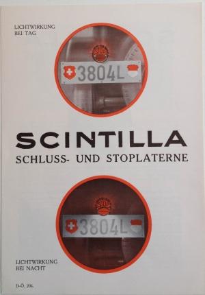 Scintilla Schluss- und Stoplanterne, 1930, Back Cover