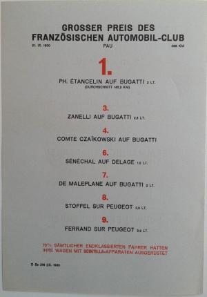 """Die Letzten Grossen Scintilla Erfolge"" (""Recent Scintilla Successes""), 1930"