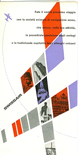 Swissair Brochure 1953, Front Cover