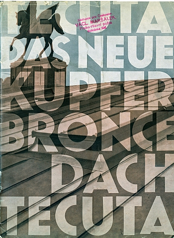 "Booklet for ""Tecuta - The New Copper Bronze Roof - Tecuta"", 1929 by Hans Leistikow"