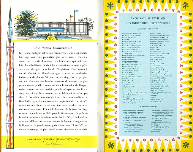 United Kingdom Pavilion Brochure Expo '58 Brussels, View Thirteen