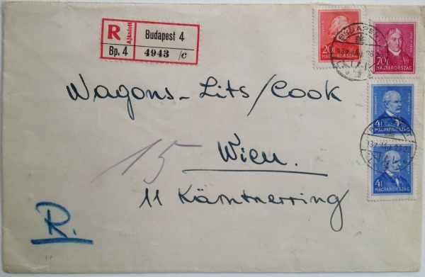 Poster Stamps in Use: Wagons Lits / Cook, Front Cover