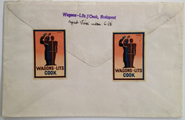 Poster Stamps in Use: Wagons Lits / Cook, Back Cover