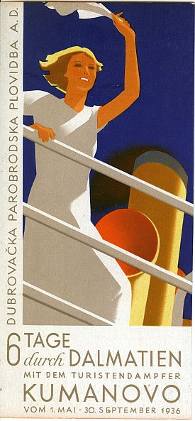 Hans Wagula: Dalmatian Cruises Brochure, 1936, Cover View One