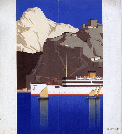 Hans Wagula: Dalmatian Cruises Brochure, 1936, Back Cover