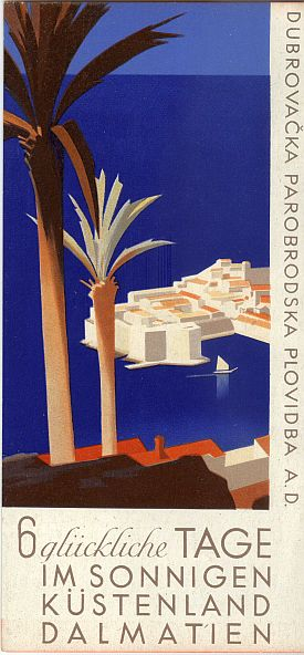 Hans Wagula: Dalmatian Cruises Brochure, 1936, Cover View Three