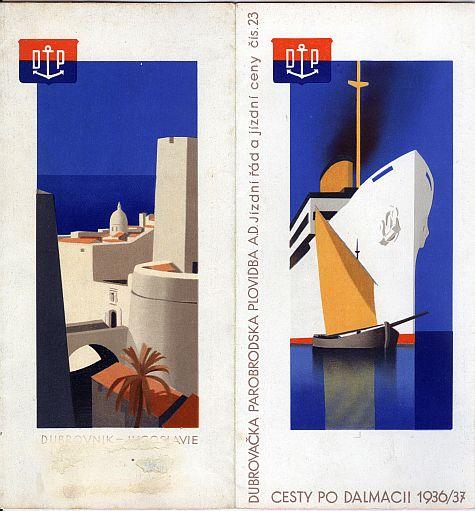 Hans Wagula: Dalmatian Cruises Brochure, 1936, Czech language variant