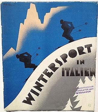 Wintersport in Italien, 1935, Front Cover