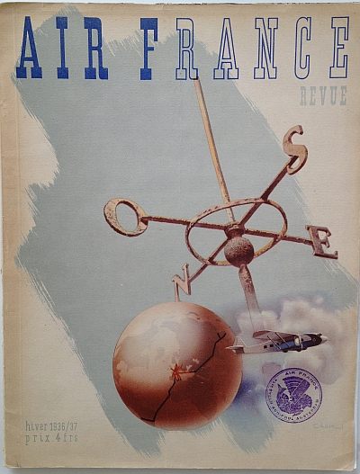 Air France Magazine Hiver (Winter) 1936 / 37 Front Cover