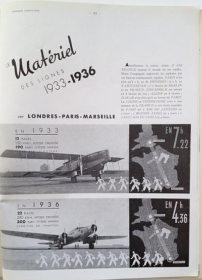 Air France Magazine Hiver (Winter) 1936 / 37 Article showcasing Air France lines View One