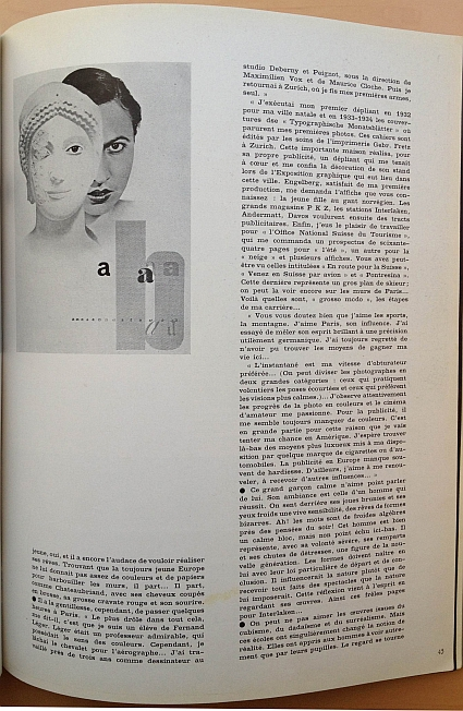 Herbert Matter Article from 15 February 1936 issue of Arts et Métiers Graphiques No. 51, Page 2
