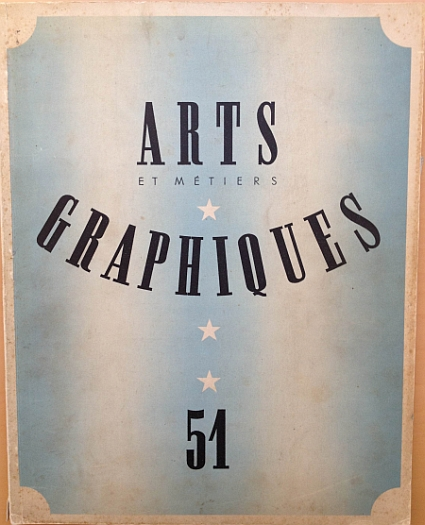 Herbert Matter Article from 15 February 1936 issue of Arts et Métiers Graphiques No. 51, Cover