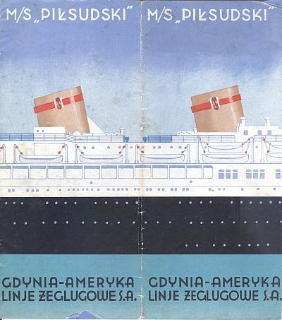"""M/S """"Pi?sudski"""", 1935 Brochure, Cover"""