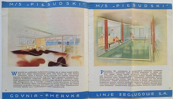 "M/S ""Pi?sudski"", 1935 Brochure, Inside View two"