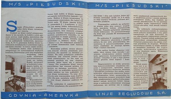 "M/S ""Pi?sudski"", 1935 Brochure, Inside View three"